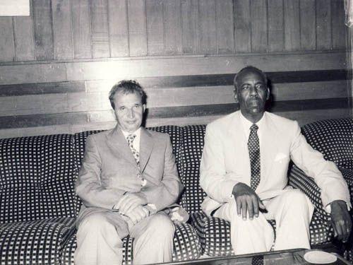 1983 Vizita in Somalia Cea uses cu si Siad Barre.