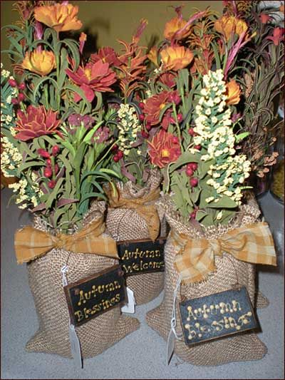Primitive Fall Crafts | ... hair, autumn, flowers, fall, autumn blessing, primitive decor, crafts