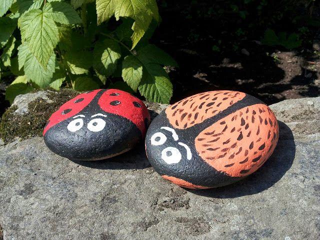 Castaliaz: Ötököitä helteessä - maalatut kivet // painted garden stones