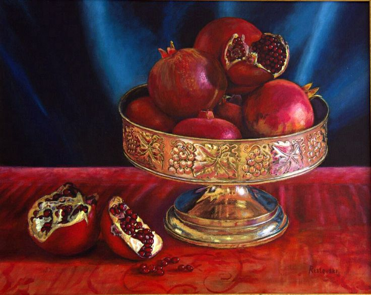 Still life with pomegranate 2013