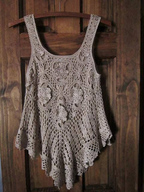 Crochet camisole - does not link through to pattern or anything useful