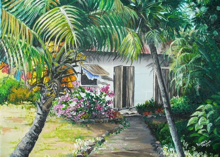 Little West Indian House 2sold Greeting Card For Sale By Karin Dawn Kelshall Best