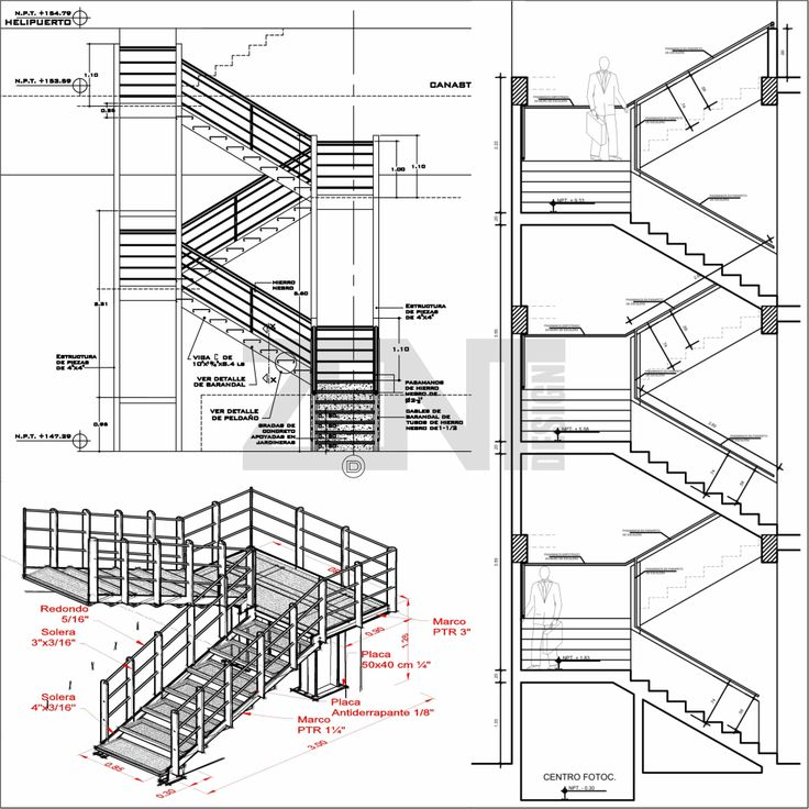17 mejores ideas sobre escaleras metalicas en pinterest for Escalera de metal con descanso