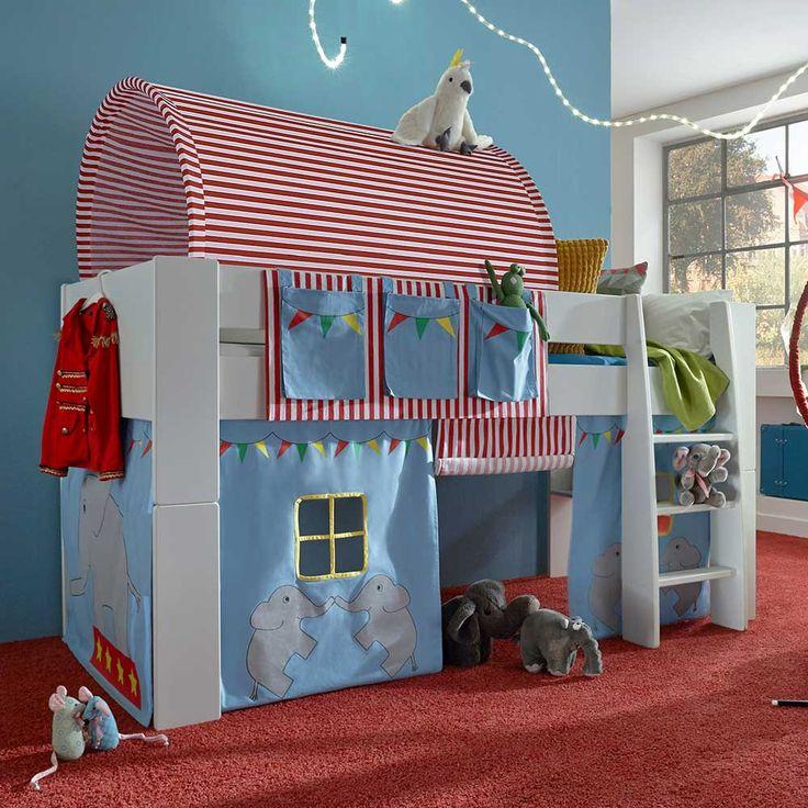 Kinderhochbett design  Die besten 25+ Hochbett vorhang Ideen auf Pinterest ...