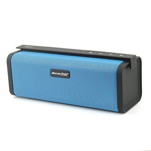 Portable Bluetooth Speaker with FM Radio Small and portable, the #Reacher Bluetooth speaker lets you listen to your music, videos or games wherever you are. Put...