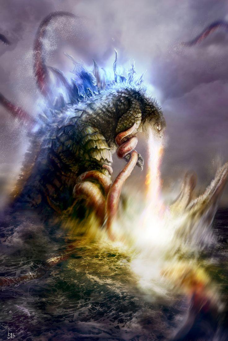 Godzilla Battle, Elie Arabian on ArtStation at…