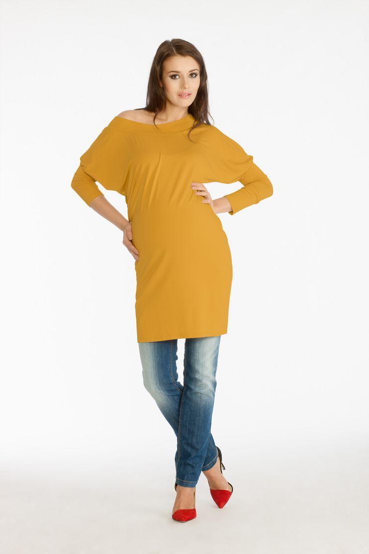 Nado blouse mustard and Avistar trousers indigo