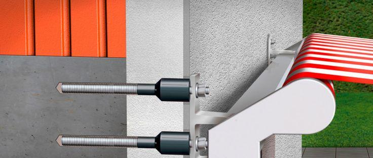 Terrassendach befestigen trotz Wärmedämmung? Kein Problem mit einem AMO-Therm Set - im Juni bei uns günstig als Angebot des Monats erhältlich. Wie man eine Wärmedämmung sachgerecht überbrückt erläutert unser Artikel zum Thema: https://blog.rexin-shop.de/2017/06/terrassenueberdachung-bei-einem-waermedaemmverbundsystem-wdvs/