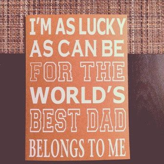 Father's Day Cards Customized For Him by RachJamDecor on Etsy  Lucky As Can Be