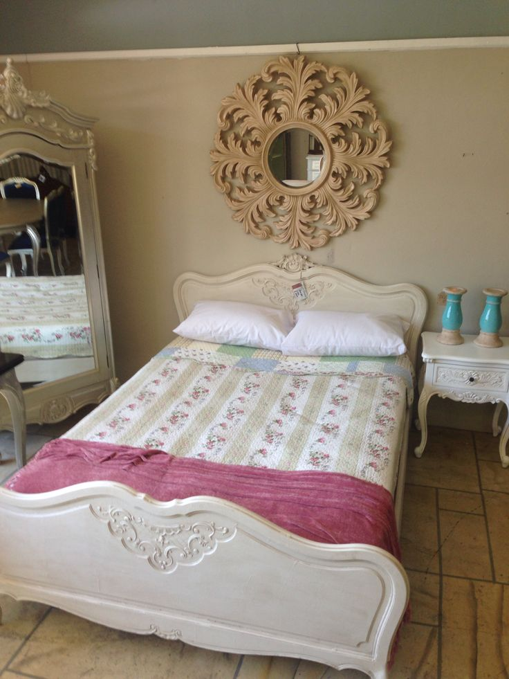 Lovely Vintage french double bed