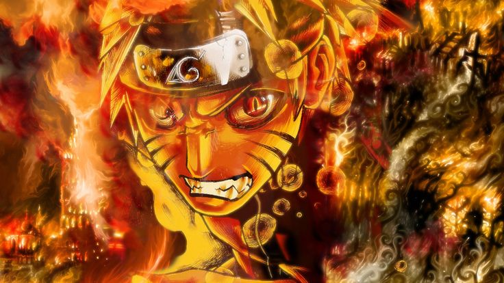 Kyuubi-Mode Naruto Wallpaper