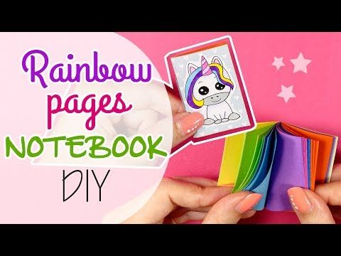 DIY Rainbow pages Notebook - Mini libro con pagine Arcobaleno - YouTube