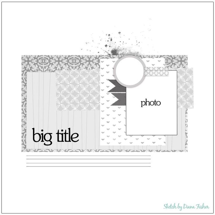 Lily Bee Design Challenge | January 2014 Layout Sketch and Sample Layout by Diana Fisher #lilybeedesign #scrapbooking #sketch