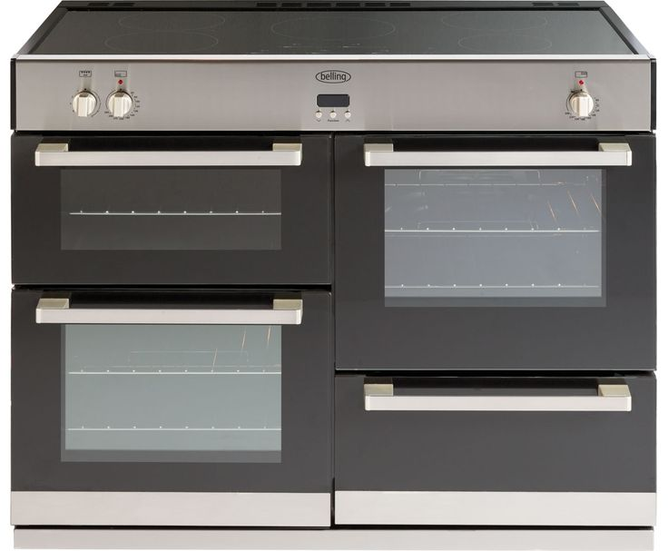 Belling DB4110Ei 110cm Electric Range Cooker with Induction Hob - Stainless Steel / Black - cheapest range £1329 ao.com