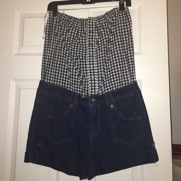 Plaid tube top w. Shorts Romper A great cookout outfit for the summer time! Other