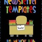 22 Newsletter Templates! Customize with your own text and fonts in Microsoft Power Point! Two pages for each theme!  *Back To School *Fall *Hallowe...