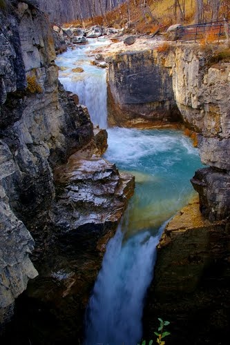 Marble Canyon In The Fall, Kootenay National Park, British Columbia, Canada;  photo by Rollie Haselden