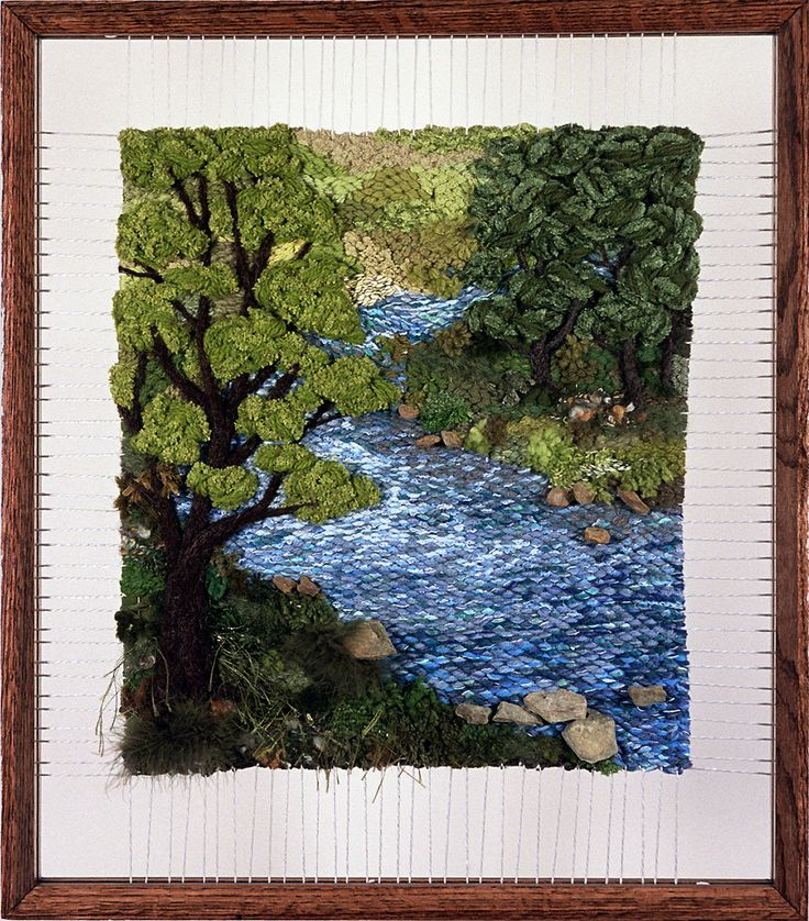 Martina Celerin Dimensional Weavings - Gallery - The River