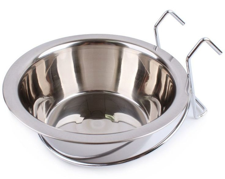 Zeroyoyo Portable Pet Supplies Stainless Steel Hook on Cage Feeding Food Dish Bowl Water Cup for Rabbit Bird Cat Dog Puppy * You can find out more details at the link of the image. (This is an affiliate link and I receive a commission for the sales)