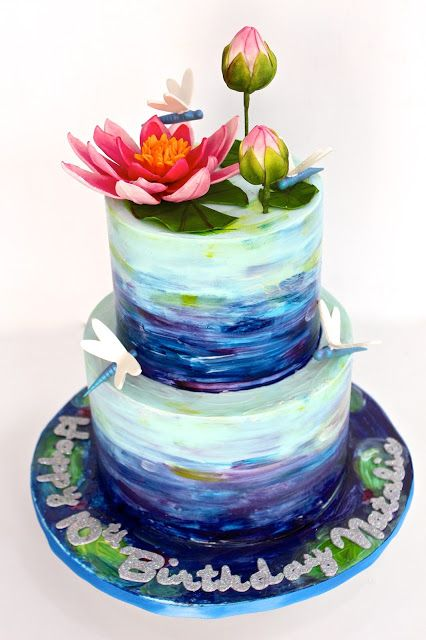 Celebrate with Cake!: Weekly Fav dragonfly Impressionism cake water lilies
