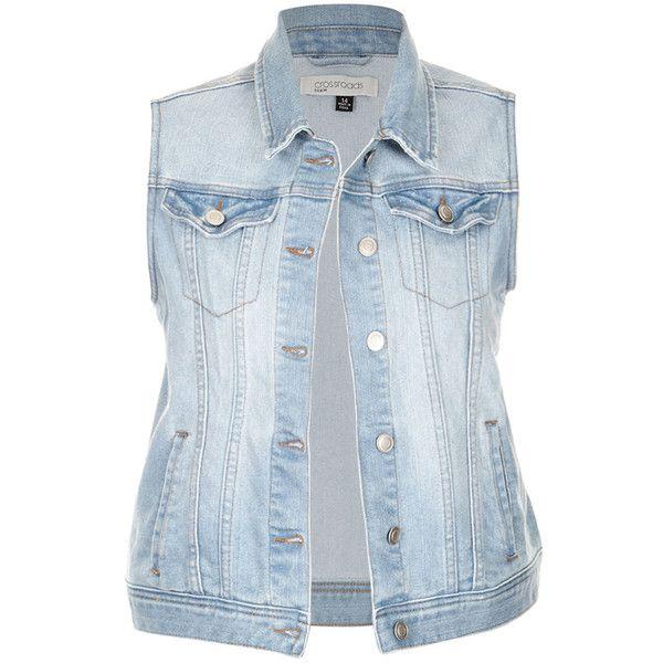 CLASSIC DENIM VEST found on Polyvore featuring outerwear, vests, vest waistcoat, blue denim vest, pocket vest, denim vest and denim waistcoat