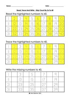 This has been designed for kids who are / have learnt to count to twenty and need to build up their skip counting by 2s to 100.  It is a building block for learning their two times tables.These sheets are designed to build kids confidence step by step, first they start skip counting by 2s to 20, then to 30, then to 40, then to 50, then to 60, then to 70, then to 80, then to 90, then to 100.