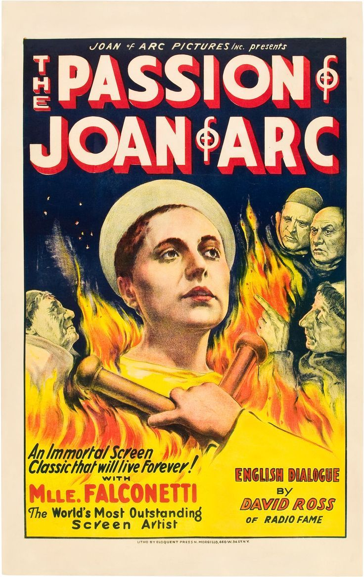 Best film posters the passion of joan of arc 1928