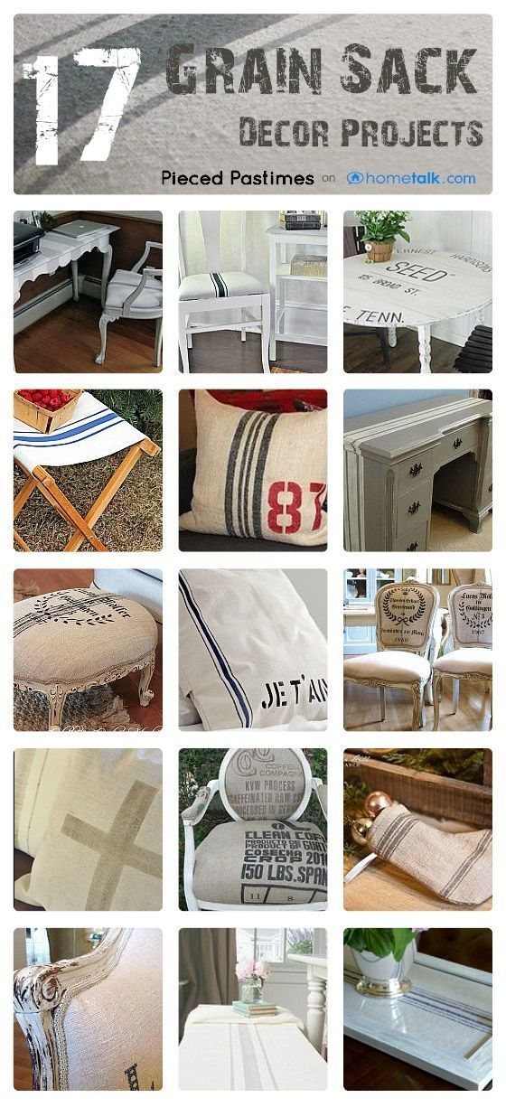 17+ Grain Sack Decor Projects, from Hometalk, featured on Funky Junk Interiors