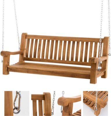 Teakholz Schaukel Sitz-Bank, massiv und wetterfest, Gartenbank zum Aufhängen mit Ketten Jetzt bestellen unter: https://moebel.ladendirekt.de/garten/gartenmoebel/gartenbaenke/?uid=322207e2-378e-5c0d-8538-638931a96ffb&utm_source=pinterest&utm_medium=pin&utm_campaign=boards #heim #garten #gartenbaenke #gartenmoebel