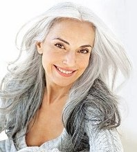 I notice every striking woman with grey hair.