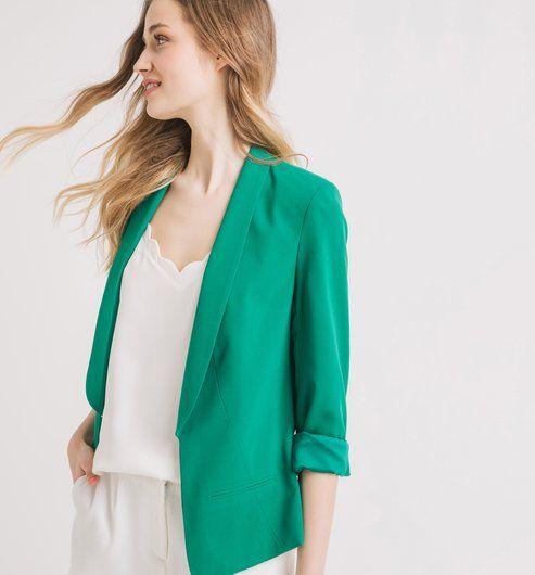 Veste de tailleur Femme vert - Promod