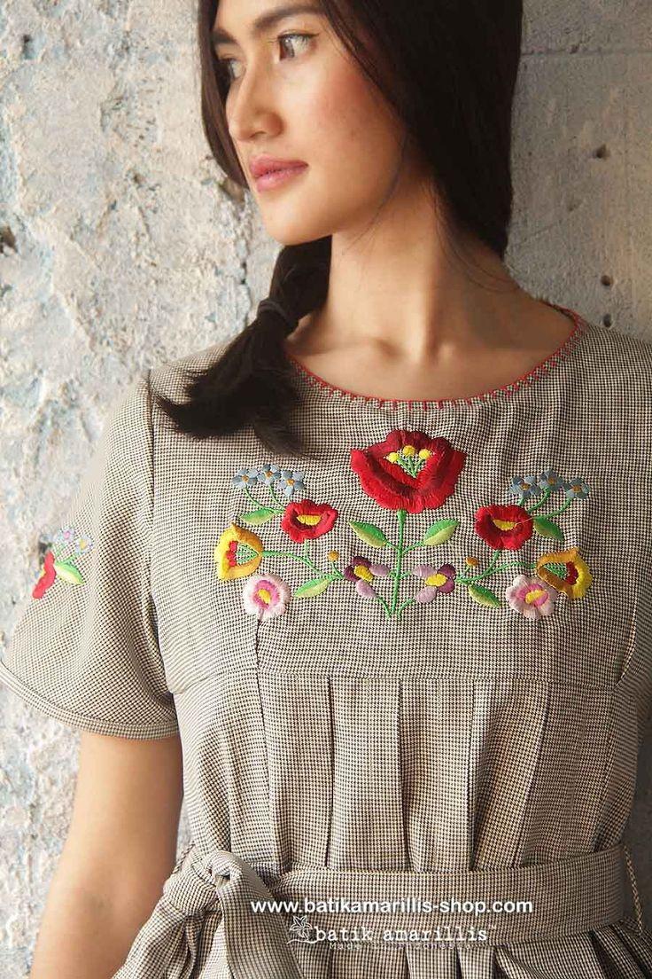 batik amarillis's Diva dress with Hungarian embroidery