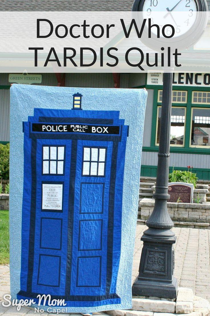 Doctor Who TARDIS Quilt made by Super Mom - No Cape!