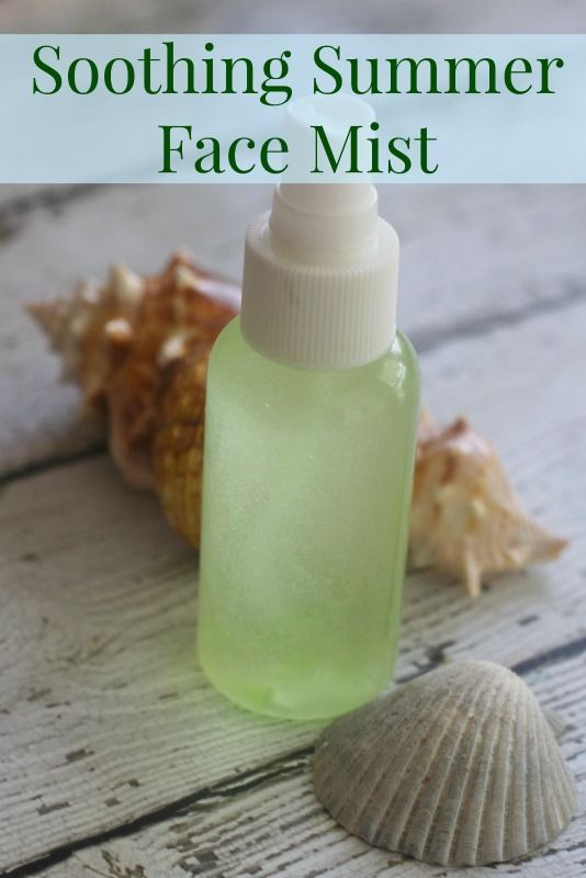 Homemade Soothing Summer Face Mist Recipe -  This DIY face mist is a must this summer! The natural ingredients in this homemade beauty treatment will pamper your skin after a day in the sun and sand.