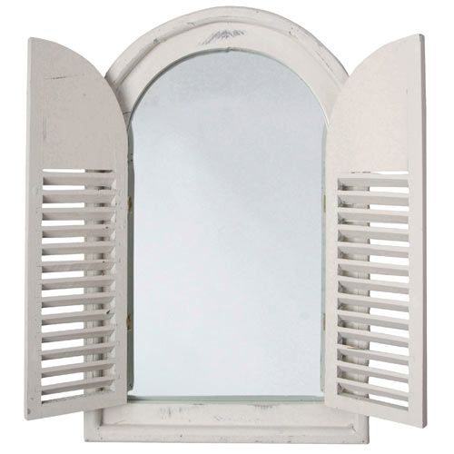 Add some French-style chic to your interior with this stylish Wall Mirror that looks just like a shuttered window. The perfect accessory for a conservatory, bedroom or living room, the wall mirror has a distressed white painted frame and shutters.  http://www.english-heritageshop.org.uk/garden/garden-accessories/shuttered-wall-mirror-white