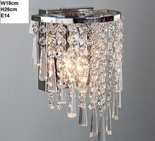 2016 Современные Европейские и Американские моды украшение дома кристалл вход лампы/H26cm Dia18cm хрустальные бра проходу лампы