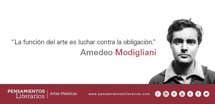 Amedeo Modigliani. Sobre la función del arte.