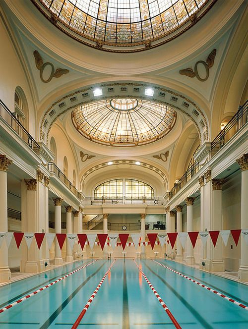 The swimming pool at the Olympic Club in San Francisco
