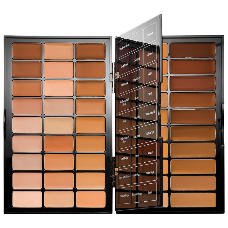 What it is:A portable, all-in-one face palette with foundation, corrector, and creamy concealer shades for all skin tones. What it does:This palette features a range of skin correctors and creamy concealers in 27 tones and Bobbi's Skin Foundation St