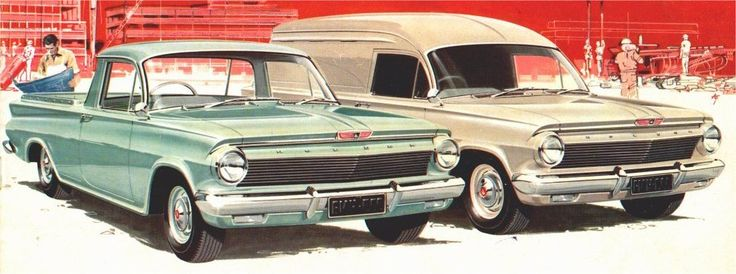 1962 Holden EJ Ute and Panel van