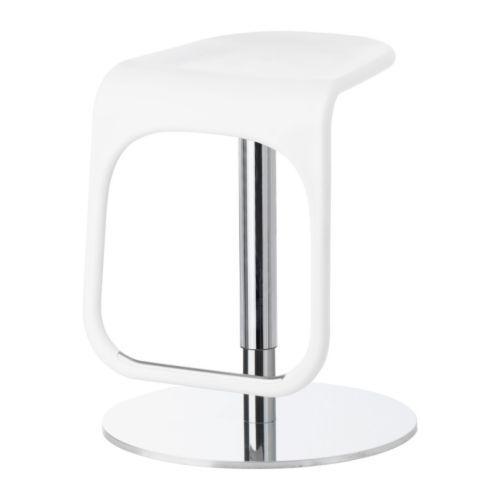 IKEA - URBAN, Sgabello bar, È facile regolare l'altezza con una mano sola.Confortevole grazie al poggiapiedi.