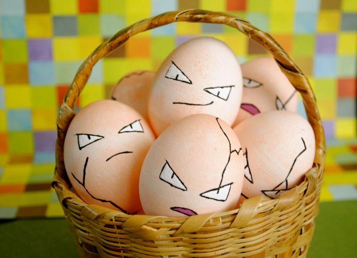 Happy Easter - Exeggcute Easter Eggs #Pokemon