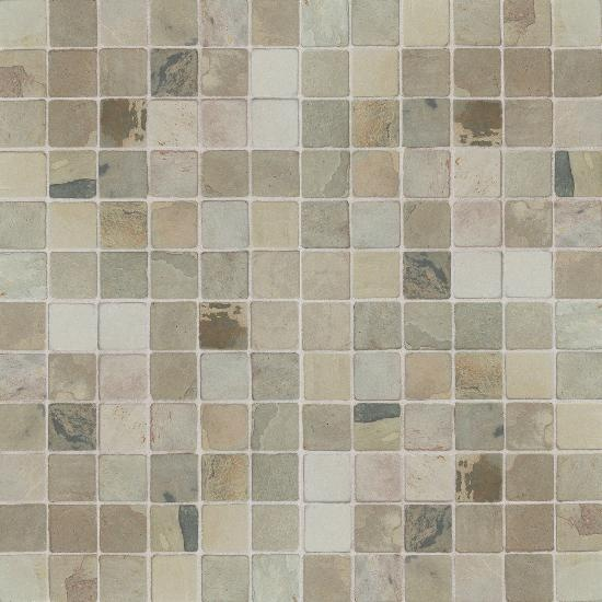 India Autumn Mist Mosaic Tumbled Slate Collection By American Olean