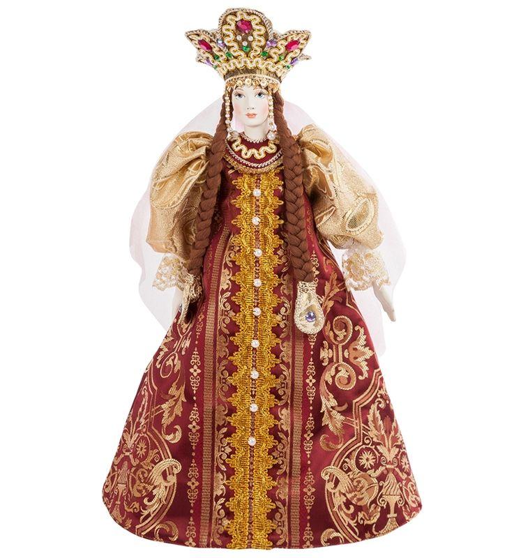 """Фарфоровая кукла """"Царевна"""" RK-544 A / Коллекционные куклы / Куклы / Каталог / R-Gifts – интернет магазин подарков и сувениров.  #doll #porcelainskin #porcelaine #russiandoll #russiandolls #gift #giftidea #handmade #кукла #куклаинтерьерная #кукларучнойработы #подарок #фарфор #фарфороваякукла"""