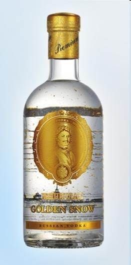 Imperial Collection `Golden Snow` Vodka (1 x 700mL), Russia.