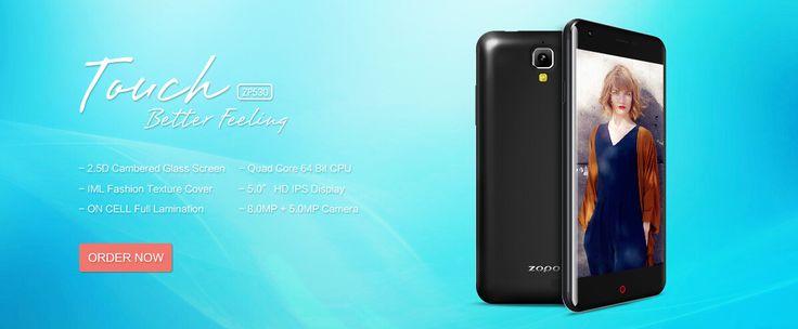 ZOPO ZP530 4G LTE 5 Inch 1GB RAM MTK6732 64bit Quad-core Smartphone