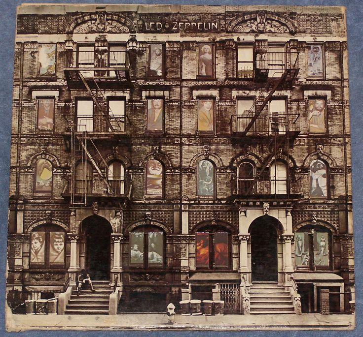 LED ZEPPELIN Physical Graffiti Swan Song Die Cut Cover 2 LP Set With Insert
