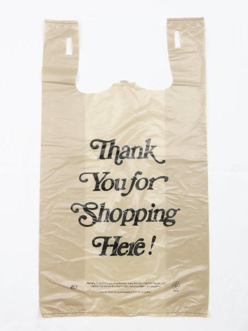 @Design_Mus_Shop (http://Amazon.com: Plastic Bag- Heavy Duty 'Thank You' Italic Print Beige ) via @mm_brln