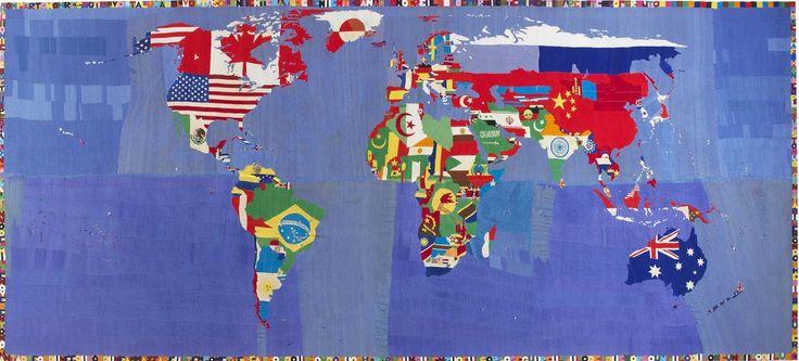 Alighiero Boetti, Mappa, 1989-94, broderie sur tissu, cm 103 254  x 588 / in 100 x 231.5