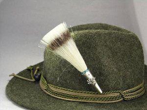 German Bavaria Oktoberfest - Hunting Hat - WILD BOAR BRUSH HAT PIN